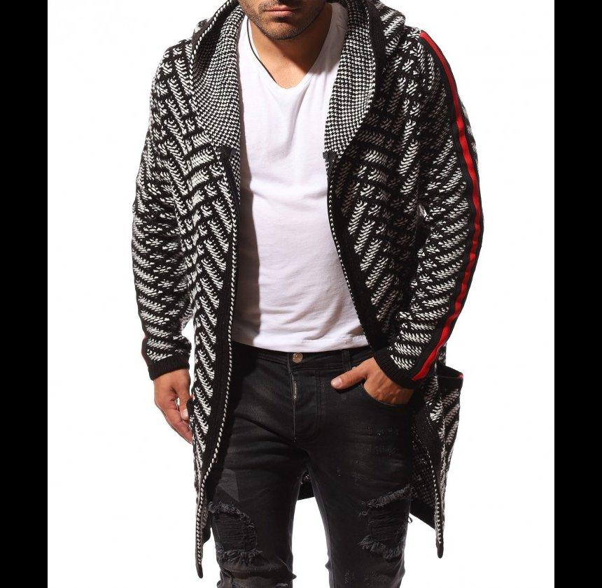 Модерността на мъжките дълги плетени жилетки. Топ тенденция през този сезон.