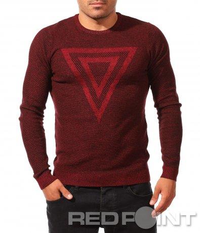 Стилен пуловер с елемент 8261