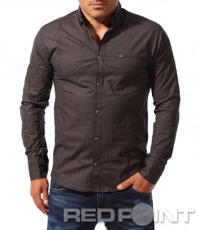 Спортно-елегантна риза с орнаменти 8338