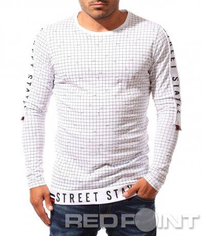 Ексцентрична блуза с надписи 8345