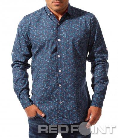 Синя риза с орнаменти 8321