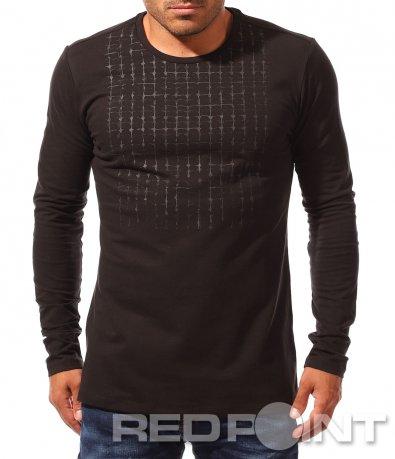 Черна тениска с дълъг ръкав 8868