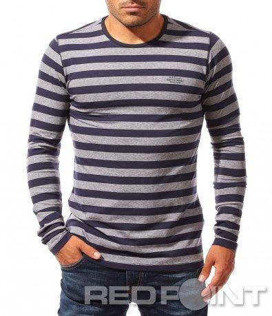 Раирана тениска с дълъг ръкав 8354