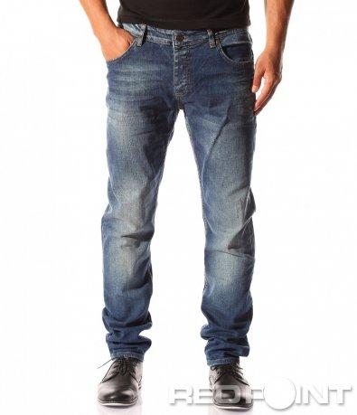 Спортно-елегантни сини дънки 8365