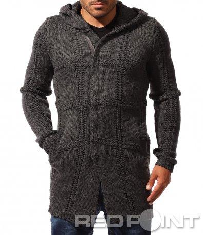 Дълга плетена жилетка 8375