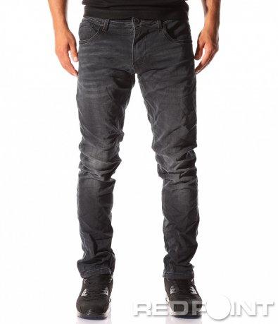 Едноцветни черни дънки 8386