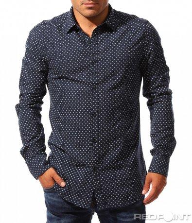 Синя риза с орнаменти 8404
