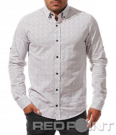 Вталена риза със закачлив десен 8411