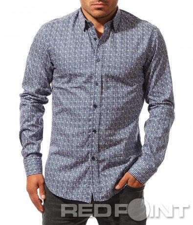 Slim fit риза на квадрати 8412