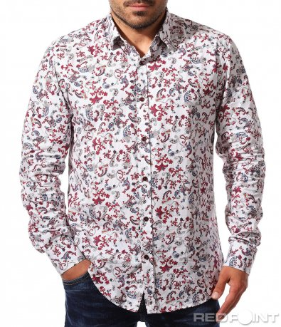 Пъстра спортно-елегантна риза 8416