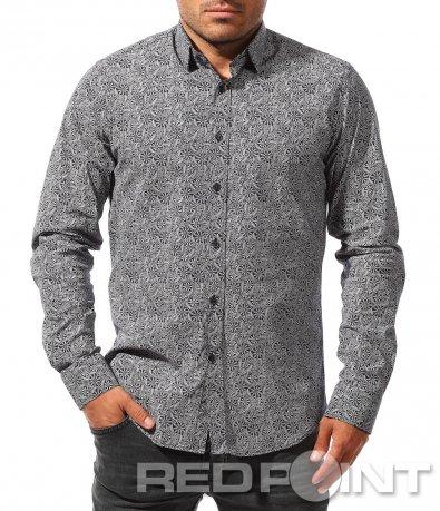 Интересна риза с принт 8417