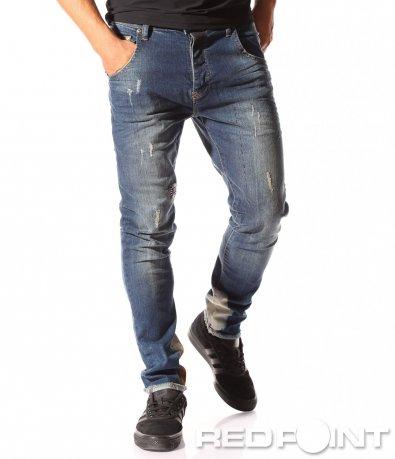 Сини дънки с пантало дъно 8439
