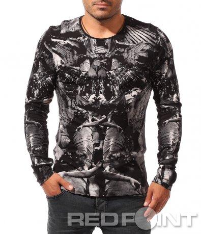 Есенна блуза с щампиран десен 8443