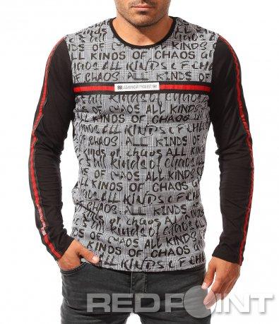 Атрактивна блуза с надписи 8449