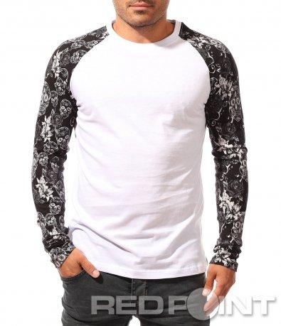 Класическа блуза с декорирани ръкави 8440