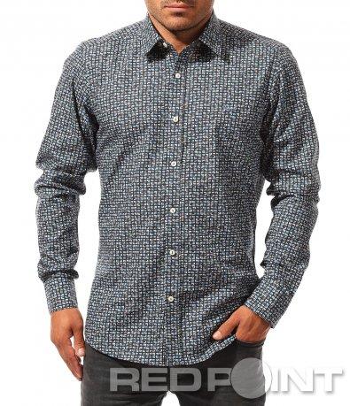 Ефектна риза с принт 8455