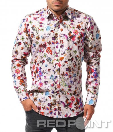 Риза с впечатляващ десен 8456