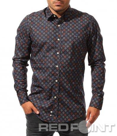 Тъмно синя риза с орнаменти 8458
