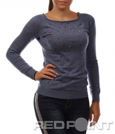 Блуза с цветни камъни 8468