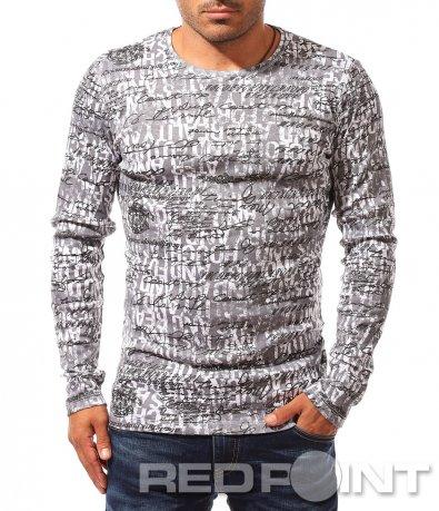 Есенна блуза с ефектен десен 8340