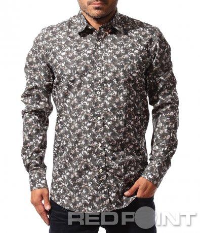 Официална риза с принт 8486
