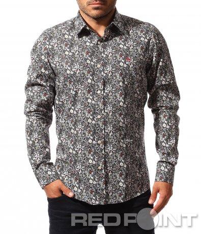 Ефектна риза с цветен десен 8487
