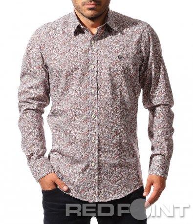 Вталена риза с флорален принт 8488