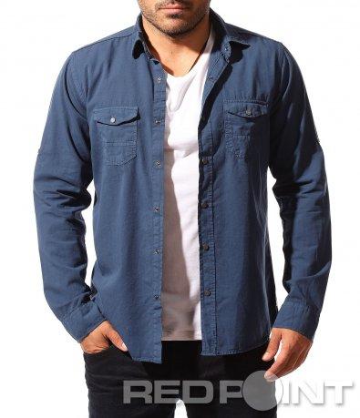Изчистена риза с джобове 8490