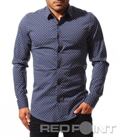 Slimfit риза с орнаменти 8522
