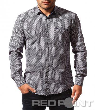 Спортно елегантна риза с мотиви 8525