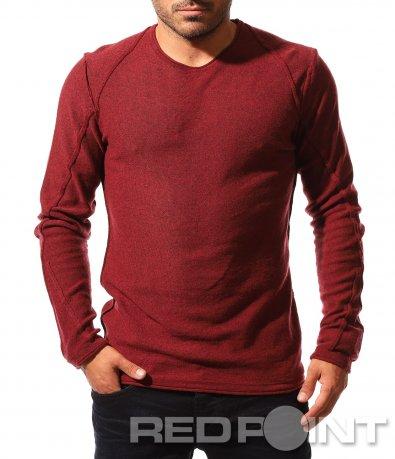 Едноцветна есенна блуза 8531
