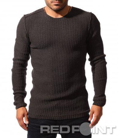 Плетена вталена блуза 8535