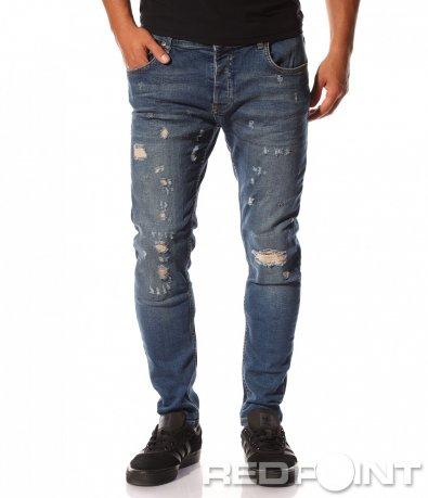 Skinny дънки с кръпки 8548