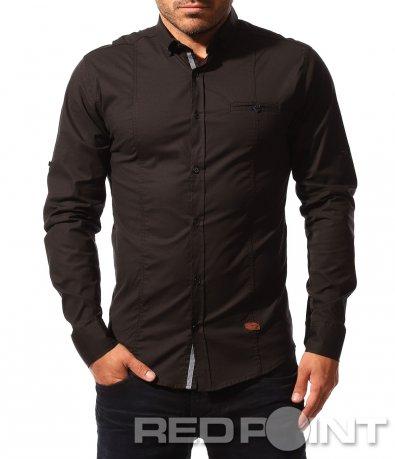 Класическа риза с дълъг ръкав 8559