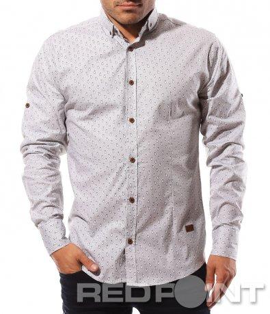 Спортно елегантна риза с принт 8580
