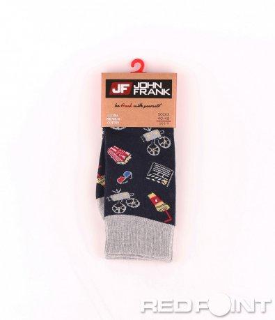 Дълги чорапи с принт кино 8655
