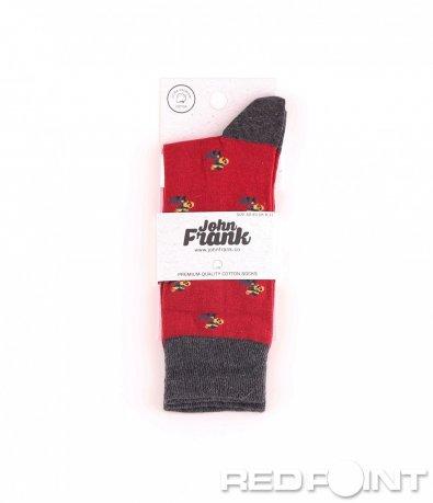 Дълги чорапи с принт птица 8656