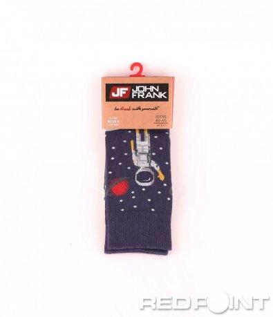 Дълги чорапи с принт космос 8657