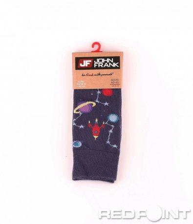 Дълги чорапи с принт ракети 8663