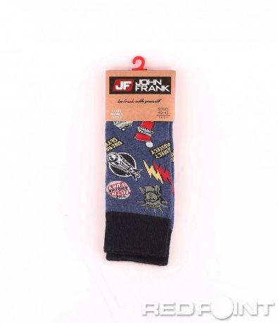 Дълги чорапи с принт свобода 8664