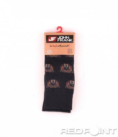 Дълги чорапи с принт мечка 8684