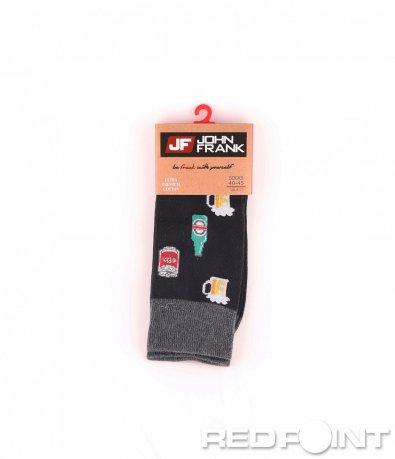 Дълги чорапи с принт бира 8687