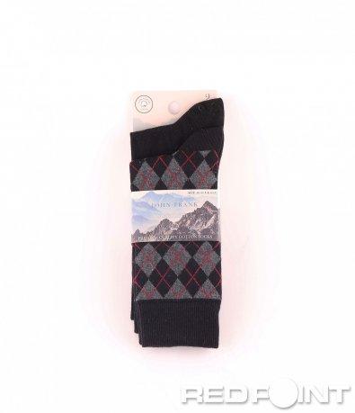 Дълги чорапи с ромбоиден принт 2бр 8668