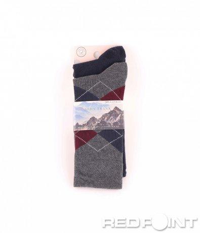 Дълги чорапи с принт на орнаменти 8669