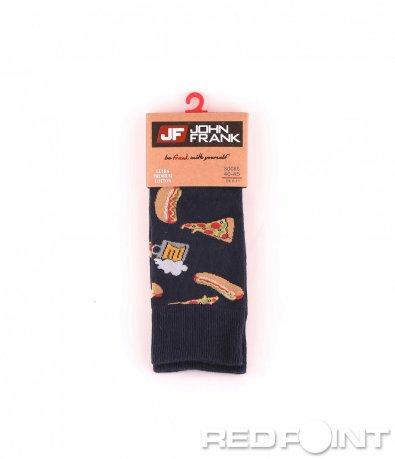 Дълги чорапи с принт хамбургер 8680