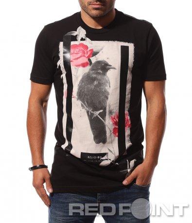 Тениска с разчупена щампа 8704