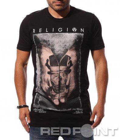 Нетипична тениска с щампа 8707