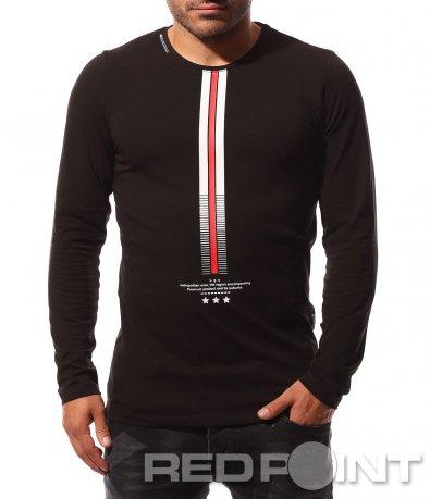 Изключителна черна блуза 8712