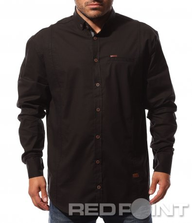 Едноцветна спортно елегантна риза 8716