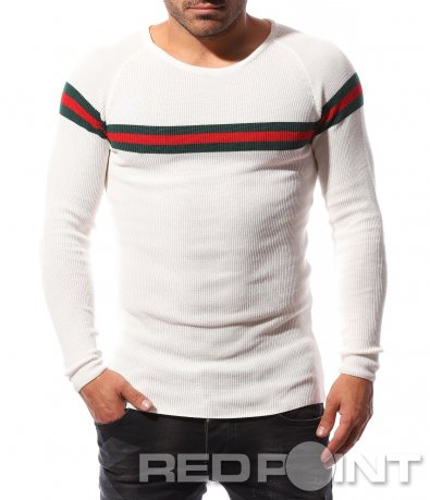 Пуловер с актуален принт 8721